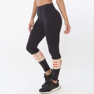 🆕 REN Active Black Nude & Red High Waist Leggings